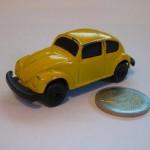 voiture miniature cox jaune