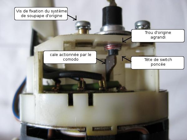 comande pompe liquide essuie-glace elec